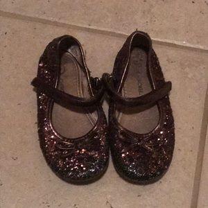 Cherokee Brown Glitter Dress Shoes Fancy Size 8
